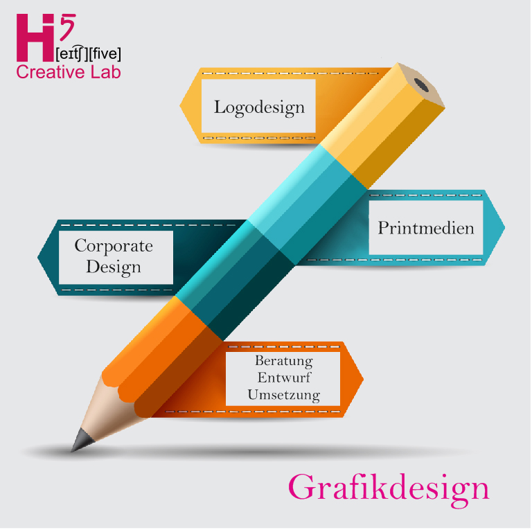 Grafikdesign Würzburg - H5 Creative Labs ist Deine Full-Service-Werbeagentur in Würzburg für Logodesign, Printwerbung & Dein Corporate Design
